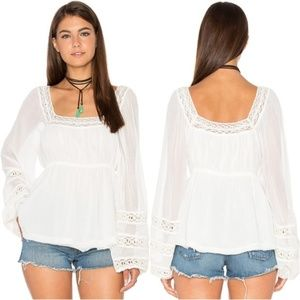 Free People Moonchaser Peasant Top Size Small